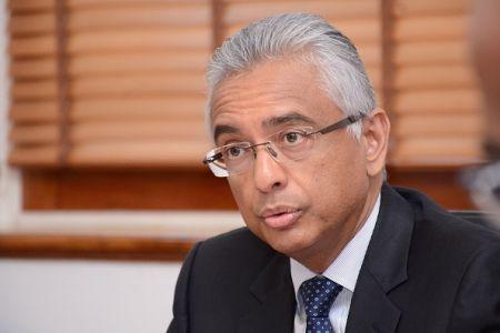 Le ministre mauricien des Finances, Pravind Jugnauth