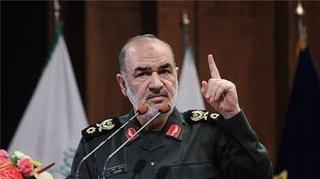 Le général Hossein Salami, commandant du corps des Gardiens de la Révolution islamique (GRI)