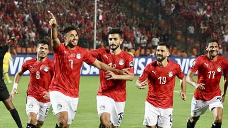 Trezeguet a marqué le premier but de la CAN 2019 pour l'Egypte. RFI/ Pierre-René Worms