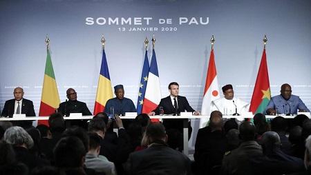 Conférence lors du sommet de Pau, le 13 janvier 2020. © Guillaume Horcajuelo/Pool via REUTERS