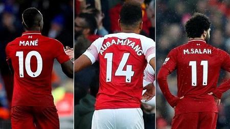 Salah, Mane et Aubameyang, gagnants de l'EPL Golden Boot