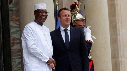 Le présidents, Idriss Deby Itno et Emmanuel Macron
