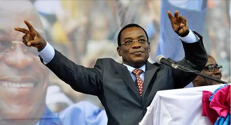 Pascal Affi N'Guessan, le président du Front populaire ivoirien (image d'illustration) AFP PHOTO/ SIA KAMBOU
