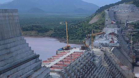 Le barrage de la Grande Renaissance sur le Nil en Éthiopie, le 26 septembre 2019. © REUTERS/Tiksa Negeri