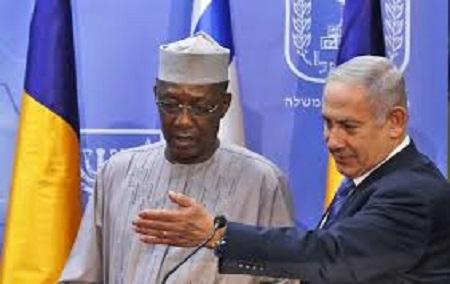 Le premier ministre israélien, Benjamin Netanyahu,  et le président tchadien, Idriss Déby, Novembre 2018 à Jérusalem