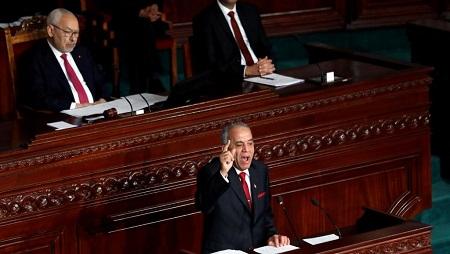 Le Premier ministre désigné Habib Jemli lors d'une session parlementaire pour voter sur le nouveau gouvernement tunisien à Tunis, Tunisie, le 10 janvier 2020. © REUTERS