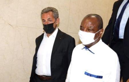 L'ancien président français Nicolas Sarkosy a été reçu par Alpha Condé. Vendredi 6 août 2021 à Conakry