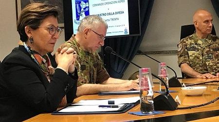 La ministre italienne de la Défense Elisabetta Trenta. D. R.
