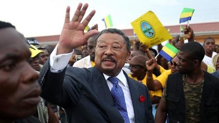 L'opposant gabonais et ancien candidat à la présidentielle, Jean Ping, à Libreville, le 15 avril 2017. © STEVE JORDAN / AFP