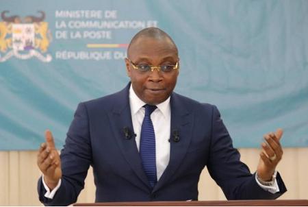 Alain Orounla, ministre de la communication et de la poste et porte parole du gouvernement