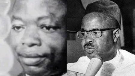Le leader nationaliste camerounais Ruben Um Nyobe (g) et le premier président du Cameroun indépendant Ahmadou Ahidjo (d). © Montage RFI