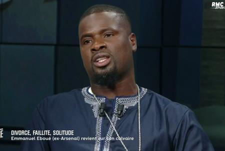 Emmanuel Eboué, ancien international ivoirien, d'Arsenal et Galatasaray. RMC Sport - BFMTV