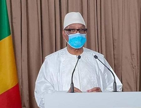 Le président Ibrahim Boubacar Keita du Mali