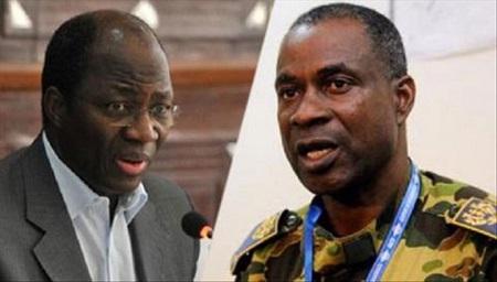 Les généraux Gilbert Diendéré et Djibrill Bassolé, accusés d'être les cerveaux du coup d'Etat manqué de 2015