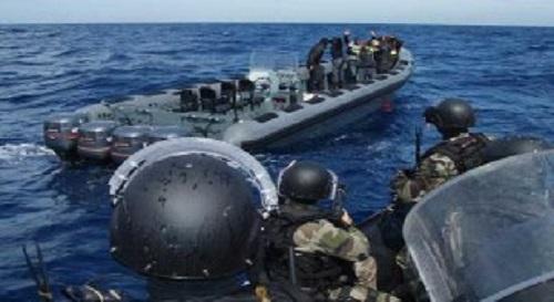 Série de manœuvres et d'exercices de simulation dans le cadre du débarquement amphibie. Photo: illustration, cameroun-inside.com
