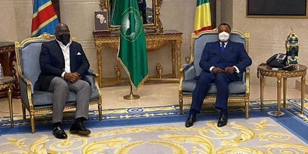 Félix Tshisekedi reçu par Denis Sassou Nguesso/Ph. Presse présidentielle