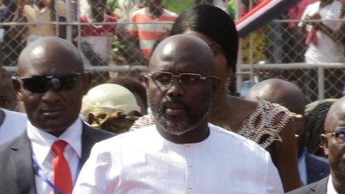George Weah, le chef d'Etat du Liberia