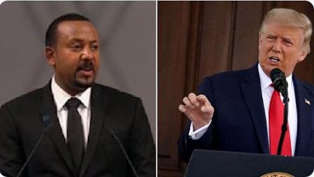 Donald Trump et Abiy Ahmed