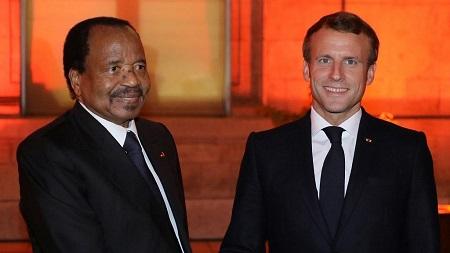 Les présidents Paul Biya et Emmanuel Macron