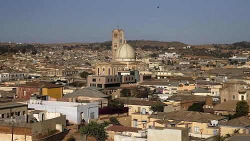 Vue aérienne d'Asmara, la capitale de l'Érythrée. © © REUTERS/Thomas Mukoya